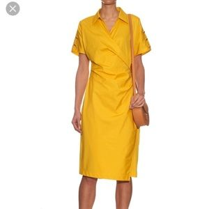 Max Mara Yellow Cotton Fred Retro Dress